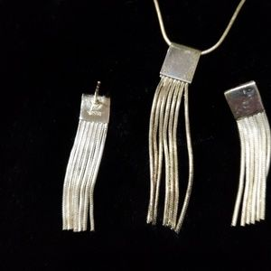 Vintage Sterling Silver necklace /earrings set